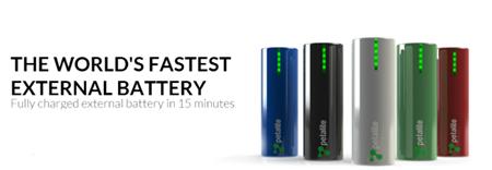 Crean bateria externa que se carga en 15 minutos