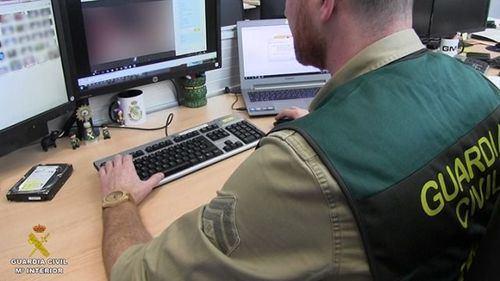 Operación conjunta de la Guardia Civil y el FBI contra la explotación sexual de menores en Internet