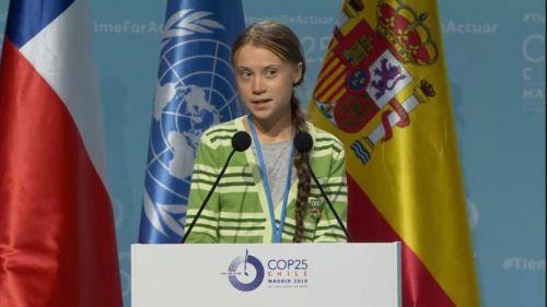 Greta Thunberg deja a un lado los discursos grandilocuentes para
