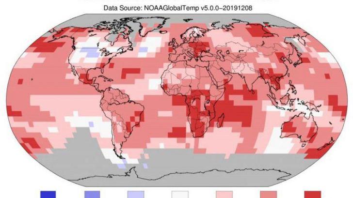 2019, cerca de ser el segundo año más caluroso jamás registrado en la Tierra