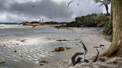 Pterodáctilos/Ilustración de James Brown - DICYT