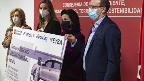 La Comunidad de Madrid pone en marcha la mayor electrolinera de España para fomentar la movilidad sostenible