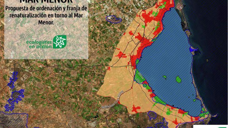 Una franja renaturalizada: La solución de Ecologistas en Acción en el Mar Menor