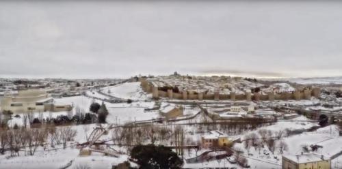 La nevada de Ávila a vista de pájaro