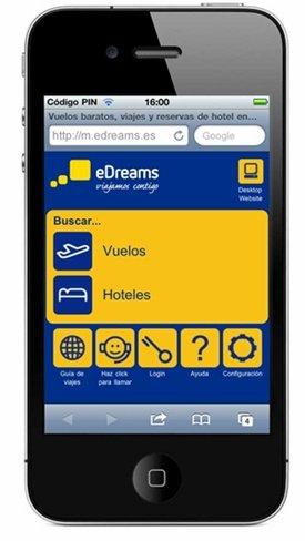 eDreams llega a los móviles con las mejores ofertas de turismo y ocio